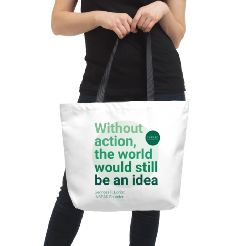 "Founder's Quote ""Action"" Tote Bag"